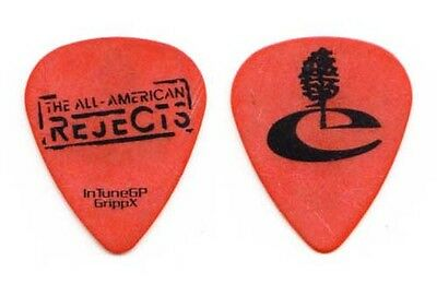 All American Rejects Mike Kennerty Tree Orange Guitar Pick #1 - 2009 Tour