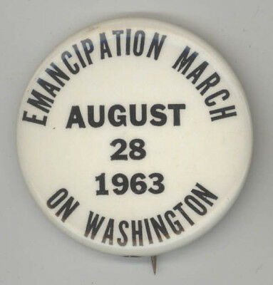 Rare 1963 MARTIN LUTHER KING JR Emancipation March POLITICAL Pin BUTTON Cause