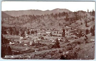 CONCONULLY, Washington  WA    BIRDSEYE VIEW  1909  Postcard