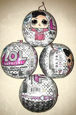 LOL Surprise Holiday Bling Series Doll Christmas Ornament Clear Ball L.O.L.balls