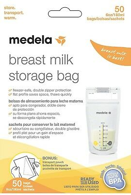 MEDELA Breast Milk Storage Bags 50 Count × 4 boxes, total 200 count free shippin