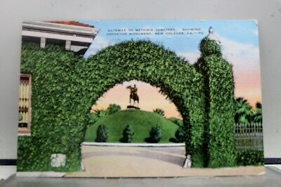 Louisiana LA Metaire Cemetery New Orleans Postcard Old Vintage Card View Post PC