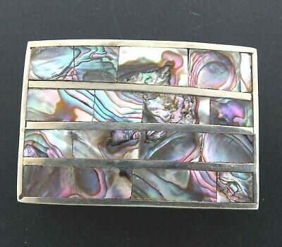 Alpaca Mexico Buckle with Abalone Puau Shell Inlay