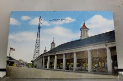 Louisiana LA French Market New Orleans Postcard Old Vintage Card View Standard
