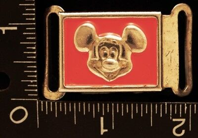 Mg26160 Neat Vintage   mickey Mouse   Red Inlay Cartoon Belt Buckle 9a634a4552c