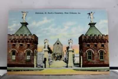 Louisiana LA St Rochs Cemetery New Orleans Postcard Old Vintage Card View Post