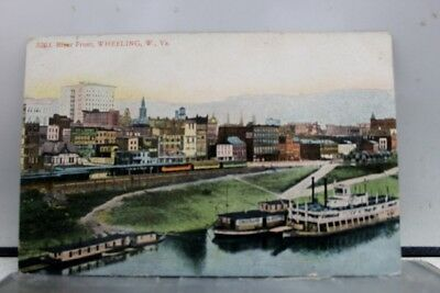 West Virginia WV River Wheeling Postcard Old Vintage Card View Standard Souvenir