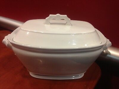 Antique White Ironstone Semi-Porcelain T&R Boote Covered Tureen 1880s Era VGCond