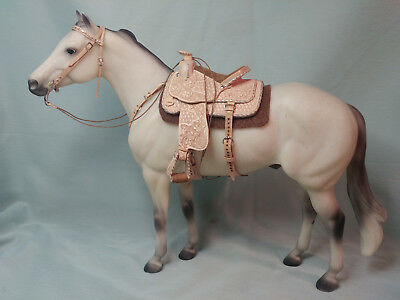 LSQ Traditional 1:9 Scale Western Saddle Set for Breyer, Peter Stone, Ect...