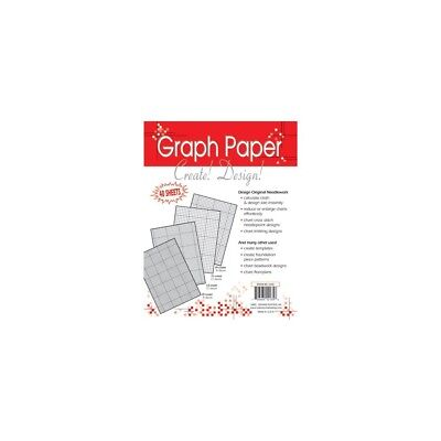 "Graph Paper-ndlework 8-1/2""x11"" - Needlework Papers85x11 40pkg"