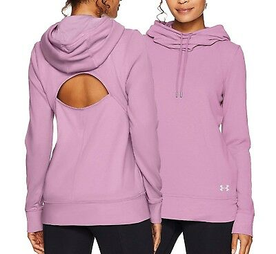 Under Armour Women's Icelandic Rose Pink UA French Terry Open Back Hoodie
