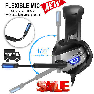 ONIKUMA K5 Stereo Gaming Headset for PS4 PC Xbox One Over Ear Headphones mit Mic