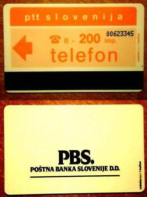 SLOVENIE - CARTE ANCIENNE - FOND ORANGE - 200 imp. - V° PBS