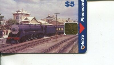 (T 1) Railway - Train - Australia - Chip Phonecard Telstra $ 5.00
