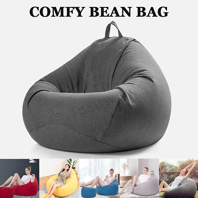 Large Gamer Bean Bag Chairs Couch Sofa Cover Indoor Lazy Lounger For Adults Kids
