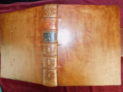 CONYERS MIDDLETON: LIFE of CICERO/ROME ROMAN/BIG LEATHER BOOK/RARE 1741 1st $400