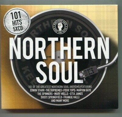 101 hits  5 x  CD  -   NORTHERN SOUL   -  2018  Spectrum Music  - NEW  SEALED