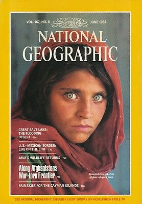National Geographic, Vol. 167, No. 6, June 1985 / Steve McCurry