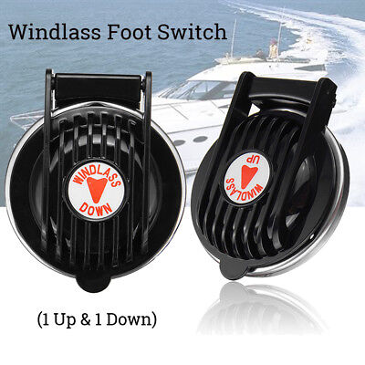 2Pcs 12/24V Up & Down Marine Windlass Foot Switch W/Cover For Boat Anchor Winch