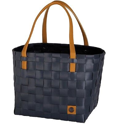 Handed By Shopper Color Bloque Gris Oscuro Gris Curry Bolsa Cesta Trenzado Bag