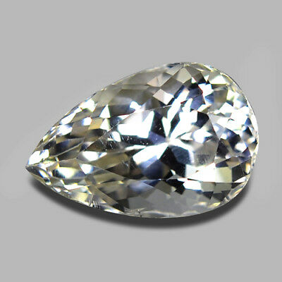 12Cts Excellent Luster Pear Cut Natural Unheated Yellow Hiddenite