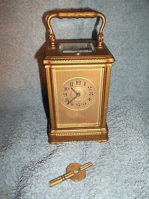 "Vintage French striking repeater carriage clock ""B Mallinson & Co"