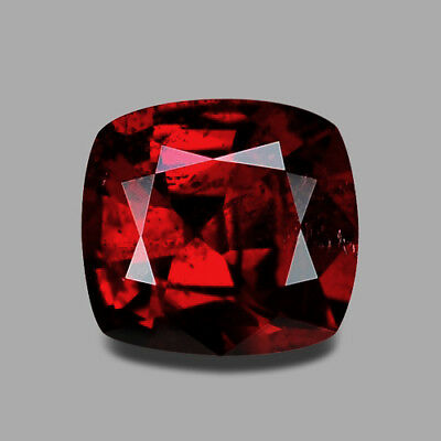 1.04Cts Excellent Cushion Cut Natural Tanzanian Orangish Red Spinel