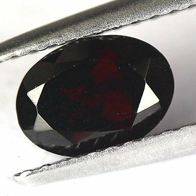 1.20 cts.7.3 x 5.2 mm. UNHEATED NATURAL RED ALMANDINE GARNET OVAL AFRICA