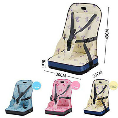 Portable Foldable Travel Child Safe High Chair Booster Feeding Harness Seat BS