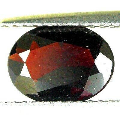 #1.58 cts. 9.2 x 7 mm. UNHEATED NATURAL RED ALMANDINE GARNET OVAL AFRICA