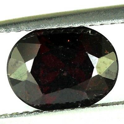 #2.46 cts. 9.2 x 7.2 mm. UNHEATED NATURAL RED ALMANDINE GARNET OVAL AFRICA