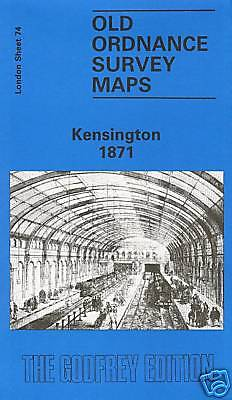 Old Ordnance Survey Map Kensington 1871