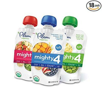 Plum Organics Mighty 4, Organic Toddler Food, Variety Pack, 4 ounce pouch
