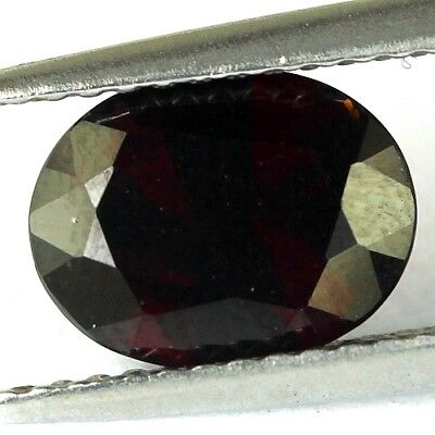 #2.09 cts. 9.1 x 7.1 mm. UNHEATED NATURAL RED ALMANDINE GARNET OVAL AFRICA