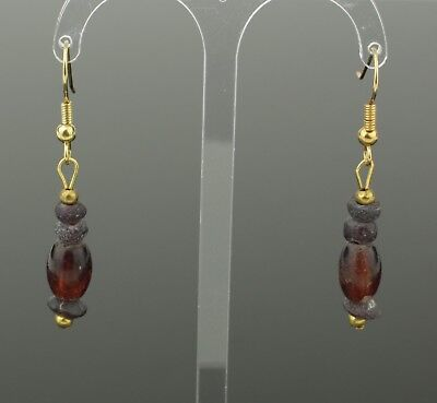 ANCIENT ROMAN GLASS BEAD EARRINGS - CIRCA - 2nd Century AD 809
