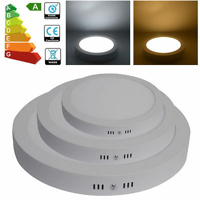 1pcs Surface Mounted 12W LED Ceiling Light Panel Downlight Lamp Kits Warm White