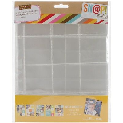 """Sn@p! Insta Pocket Pages For 6""""x8"""" Binders 10/pkg-variety Pack"""