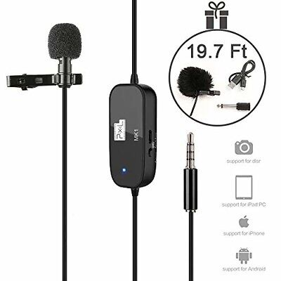 "Lavalier Lapel Microphone 236"" Professional Grade Clip On Omnidirectional Pick U"