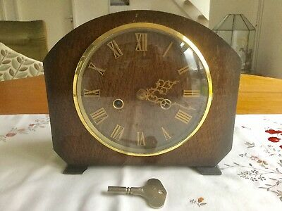 Vintage Smiths 'hamilton' Striking Mantel Clock - Working With Key
