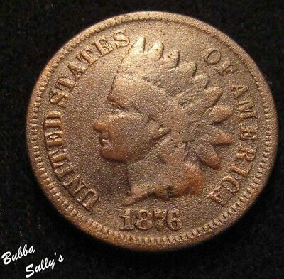 1876 Indian Head Cent <> G Details