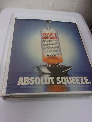 Huge Lot of Absolut Vodka Magazine Ads Advertisements 81 Different + Doubles
