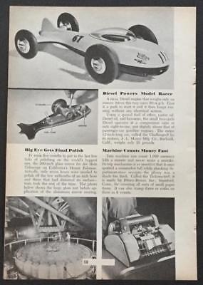 Challenger Diesel powered Tether Race Car 1950 pictorial article