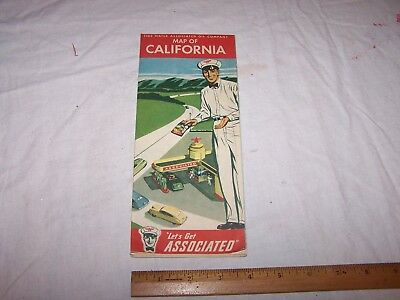 1940 TIDE WATER ASSOCIATED CO Flying A CALIFORNIA Road Map
