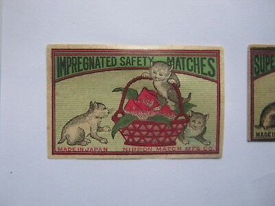 Old Japanese Cat Matchbox Label.design 1.