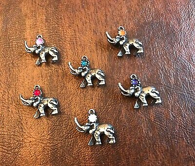 4 Elephant Awareness Choice of Color use as a CHARMS or Pendants ALL NEW.