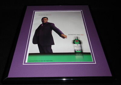 Laurence Fishburne 2001 Tanqueray Gin 11x14 Framed ORIGINAL Advertisement