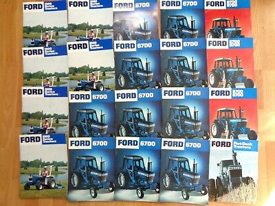 Group 20 vintage Ford tractor brochures catalogs original VG 1000 6700 8700 9700