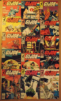 G.I. Joe A Real American Hero # 58 - 81 ..set of 15 Marvel Comics