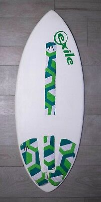 Exile Wave Skimboard, Pro Model aus Epoxy/Double Carbon Fibre
