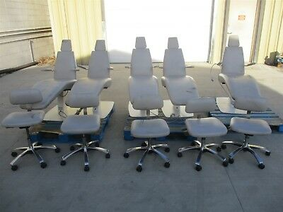 Royal Operatory Package: Lot of 5 Ortho Exam Ortho Chairs w/ Matching Stools